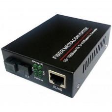 Медіаконвертер 10/100Base-TX to 100Base-F 1310нм, SM, SC/PC, 20 км FoxGate (EC-B-0,1-1SM-1310nm-20-LFP)