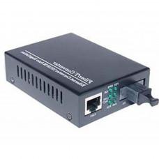 Медіаконвертер Merlion 10/100Base-TX to 100Base-F 1310нм, SM, SC/RJ-45, 25 км + БП (HTB-3100A / 1310_WDM)