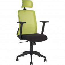 Офісне крісло OEM BRAVO black-green (21144)