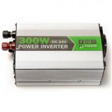 Автомобільний інвертор 24V/220V 300W, USB 5V 1A, HYM300-242 PowerPlant (KD00MS0002)