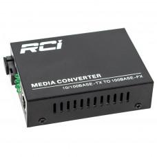 Медіаконвертер RCI 100M, 20km, SC, RJ45, Tx 1310nm, standart size metal case (RCI902W-FE-20-T)