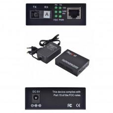 Медіаконвертер 10/100Base-TX to 100Base-FX 1550T/1310R, SM, SC/PC, 20 км Step4Net (MC-A-0,1-1SM-1550nm-20)
